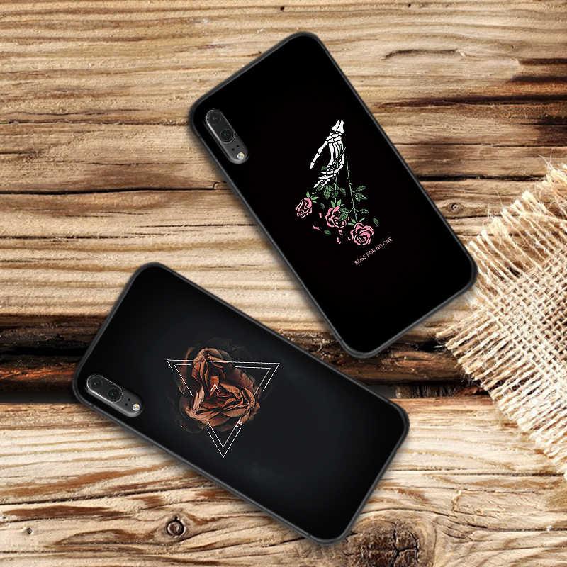 Funda de teléfono de silicona suave Rosa Negra para Huawei P10 P20 2019 P8 P9 Mini P30 LITE P Smart Z 2018 P20 Pro Coque