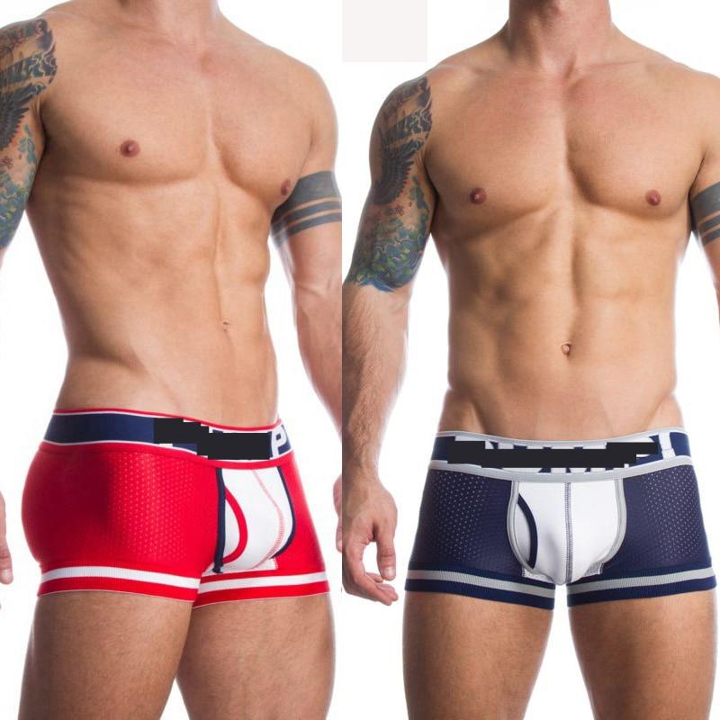 3pcs Brand Sport Jockstrap Men Boxers Camouflage Sexy Underwear Mesh Underpants Male Panties Shorts U Convex Pouch Gay Underwear