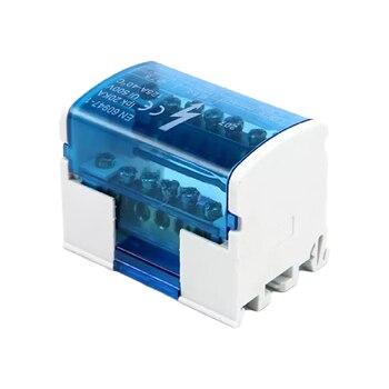 Bloque de terminales de carril Din WKH207, caja de distribución de energía, bloque de conexión de tornillo Modular, caja de empalme de cable eléctrico Universal 2