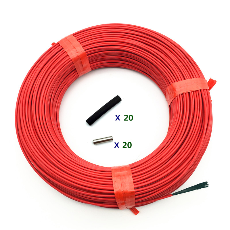 100m 12K/24K Carbon Fiber Heating Line Infrared Radiant Floor Heating Cable System Electric Blanket Line Whole Volume