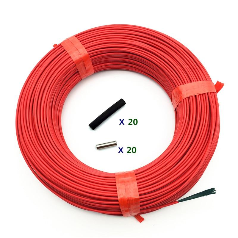 100m 12K/24K Carbon Fiber Heating Line Infrared Radiant Floor Heating Cable System Electric Blanket Line Whole Volume
