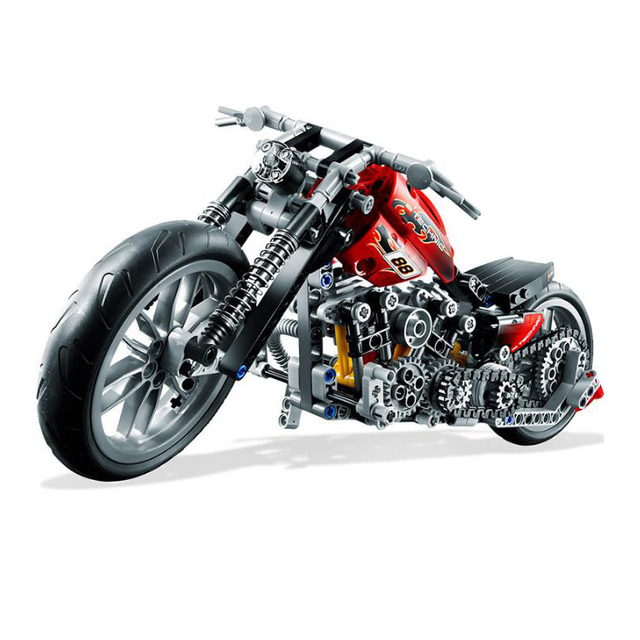 Finger Rock 3354 378PCS Racing Motorcycle Model Building Blocks Compatible with Bricks Speed Motorcycle Toys for Children