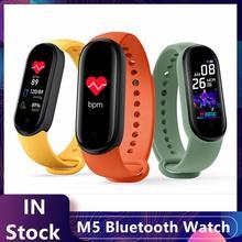 M5 inteligentna bransoletka tętno ciśnienie krwi zdrowie wodoodporny inteligentny zegarek M5 zegarek z Bluetooth pasek do trackera Fitness tanie tanio centechia CN (pochodzenie) Brak Na nadgarstek Zgodna ze wszystkimi 128 MB Krokomierz Rejestrator aktywności fizycznej