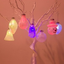 Christmas Pendant Decorative Hanging Drop Ornament 7-Color Flashing LED Light Up Holiday