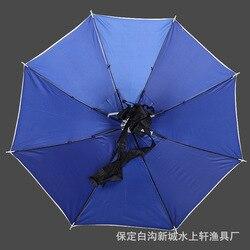 Kapelusz wędkarski odkryty odporny na słońce pałąk czapka parasolka głowa składana parasolka czapka wędkarska w Reflektory od Lampy i oświetlenie na