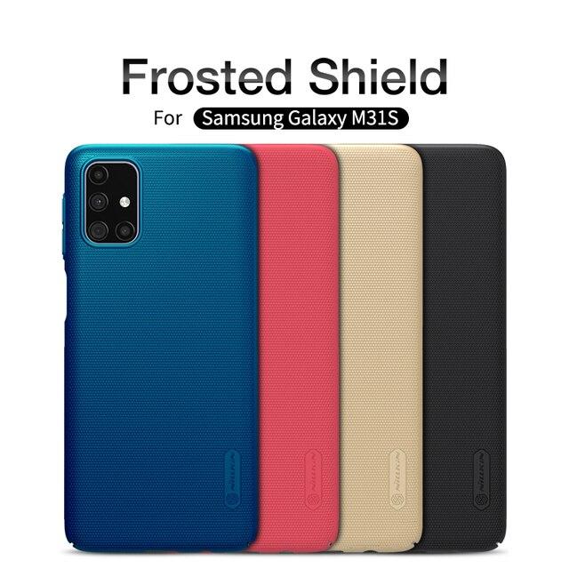 Custodia Nillkin per Samsung Galaxy M31S M21s M51 M31 Cover Super glassata Shield Hard PC Matte Protector Cover posteriore per Samsung F41