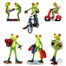 Frogs Figurine Sexy Resin Home Sculpture Dolls Model Odd Gifts Crafts Animal Ornaments Decoration