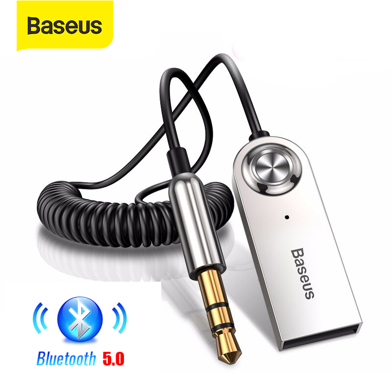 Baseus BA01 Wireless Bluetooth Receiver 3 5mm Jack Aux Bluetooth 5 0 Adapter USB Audio Music Bluetooth Transmitter for Car