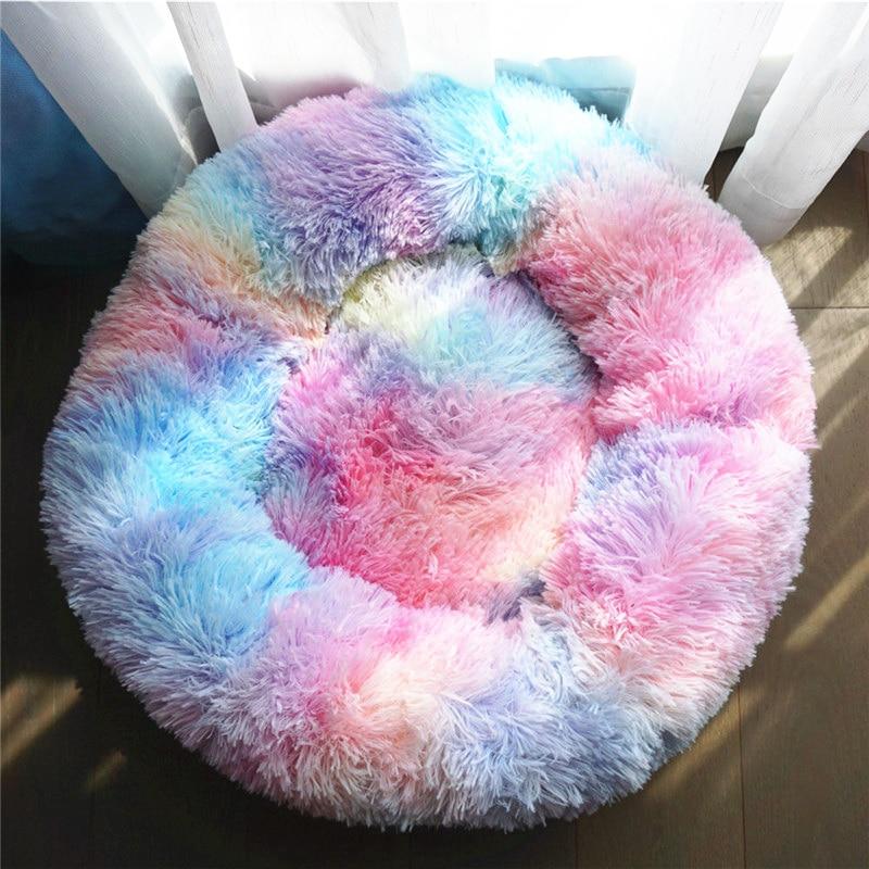 Dog Bed Super Soft Washable Long Plush Pet Kennel Deep Sleep Dog House Velvet Mats Sofa For Dog Basket Pet Cat Bed Drop shipping 1