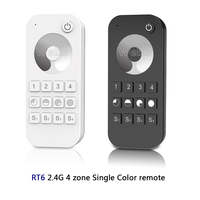 2.4G RF wireless Single Color \/Color temperature\/RGB\/RGBW\/RGB+CCT led 13-key touch wheel RF remote light controller