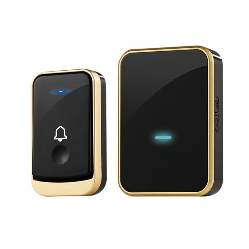 Wireless Doorbell Digital Music Doorbell Wireless Home Remote Control Doorbell Smart Doorbell Doorbell (US PLUG)