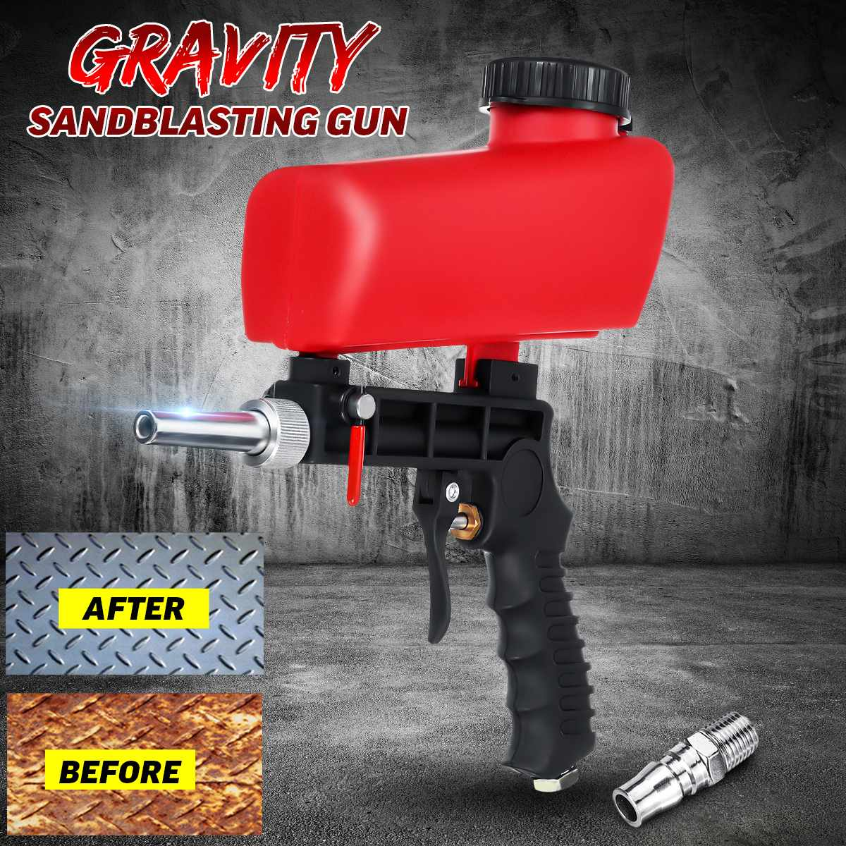 Miniature Portable Sandblasting Pistol Gravity Feed Air Pneumatic Adjustable Blasting Machine For Rust Remove Sandblaster Air