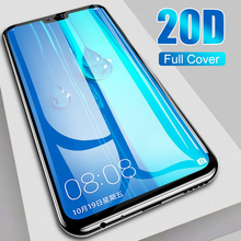 Tempered Glass Full Cover On The For Huawei Y6 Y7 Y9 2019 20D Screen Protector Film For Huawei P30 P20 Pro Lite Protective Glass 20d full cover tempered glass on for huawei p20 p30 lite pro screen protector protective film for mate 10 9 20 lite pro glass