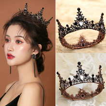 Mulheres barroco strass preto noiva casamento coroas acessórios de cabelo nupcial brilho charme baile de formatura rainha coroas nyz loja