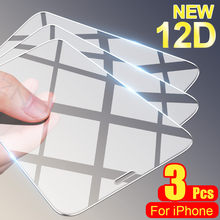 3 pçs vidro temperado para iphone 7 8 6s plus se 2020 protetor de tela para iphone 12 11 pro x xr xs max 12 mini vidro protetor