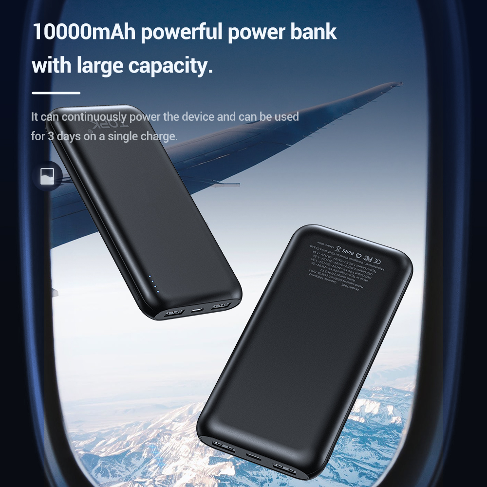 TOPK 10000mAh Power Bank 18W 3.0 Type C PD Fast Charging Power bank External Battery Charger for Mobile Phones 4