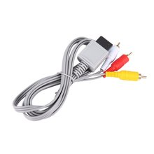 1,8 метров позолоченный Аудио видео композитный AV 3 RCA кабель для nintendo для wii