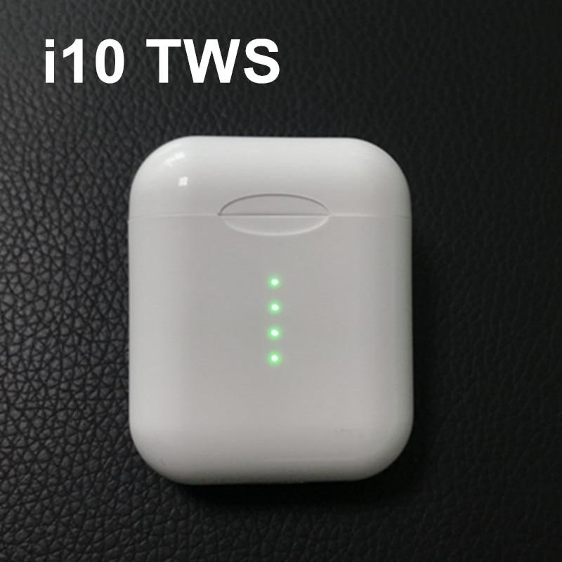 Оригинальный i10 наушники-вкладыши TWS с Беспроводной наушники Bluetooth 5,0 наушники сенсорный Тип управления C Беспроводной зарядного устройства ...