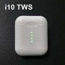 Original i10 tws fones de ouvido sem fio bluetooth 5.0 tipo controle toque c carregamento sem fio alta fidelidade música 3d som