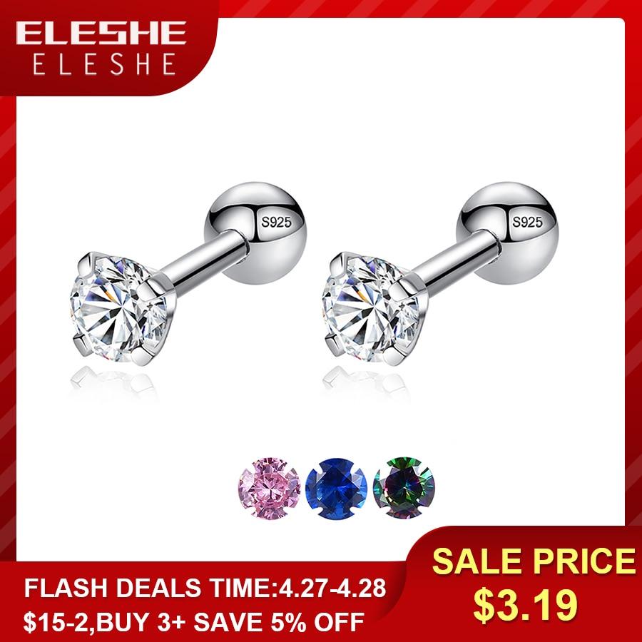 Sterling Silver Crystal Post Earrings and Bracelet for Mom
