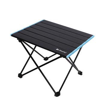 Outdoor Camping składany stół ze stopu aluminium piknik grill biurko mały Camping stół ogrodowy przenośny składany stół składany stół lekki tanie i dobre opinie alloet CN (pochodzenie) Other Nowoczesna i minimalistyczna samodzielnie Rectangle 41x35x30cm meble zewnętrzne Folding Nowoczesne