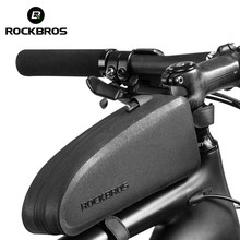 ROCKBROS Bicycle Bag Waterproof Cycling Top Front Tube Frame Bag Large Capacity MTB Road Bicycle Pannier Black Bike Accessories