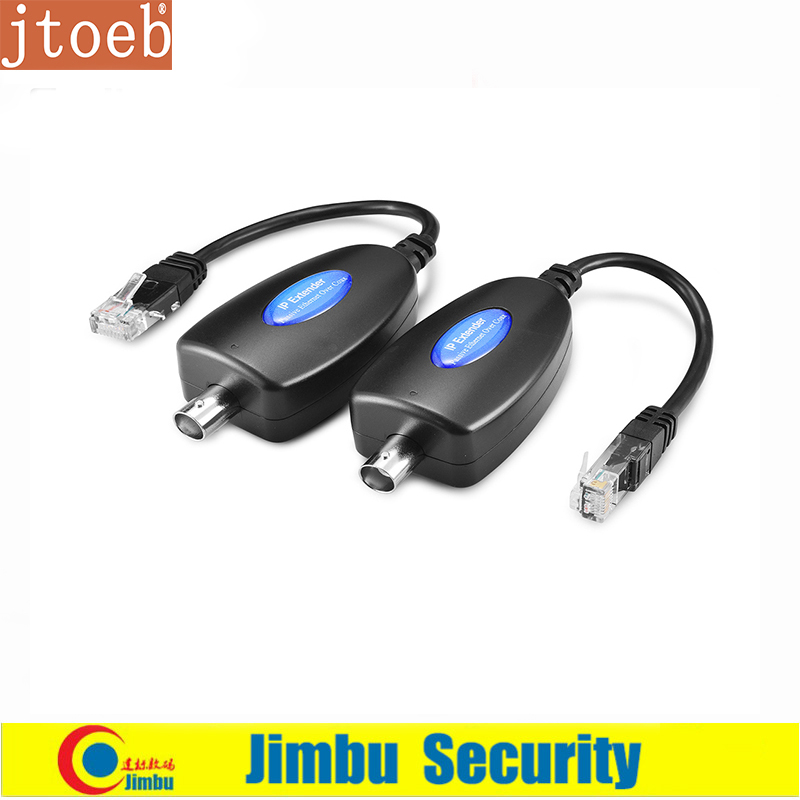 Jtoeb 1-CH Passive IP Extender Over Coax Transmit IP Camera Signal Over Existing Coaxial Cable At 10Mbps