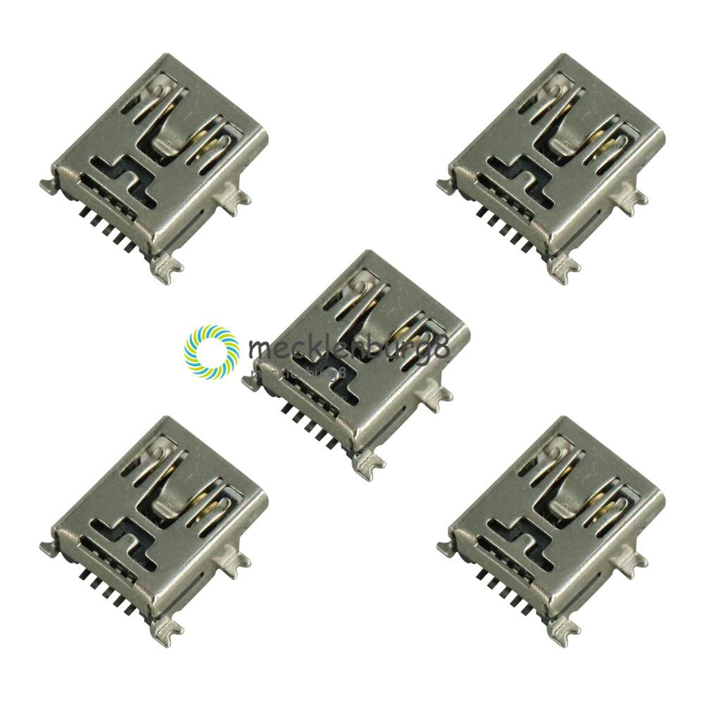 SMT SMD Micro USB Type B 5 Pin Female Jack Port Socket Connector 20Pcs