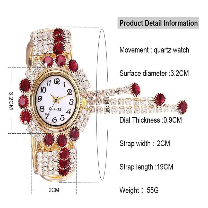 Khorasan Luxury Alloy Fashion Casual Women Watch Creative Fringe Quartz Bracelet Watches 3D13 (10)