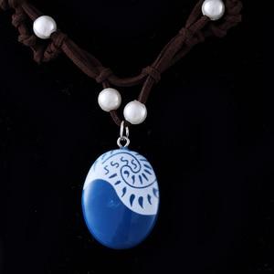 Image 3 - 20 pçs/lote moda jóias filme charme moana oceano corda corrente colares pedra azul pingentes couro camurça gargantilha colar