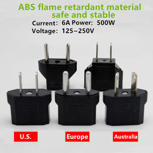 Universal Charger Adapter China to Europe America Austria Plug ,AC Power Charger Outlet Adapter Converter for Electric Vehicles