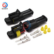 1/2/3/4/5/6 pins Way AMP Super seal Waterproof Electrical Wire Connector Plug for car waterproof connector(China)