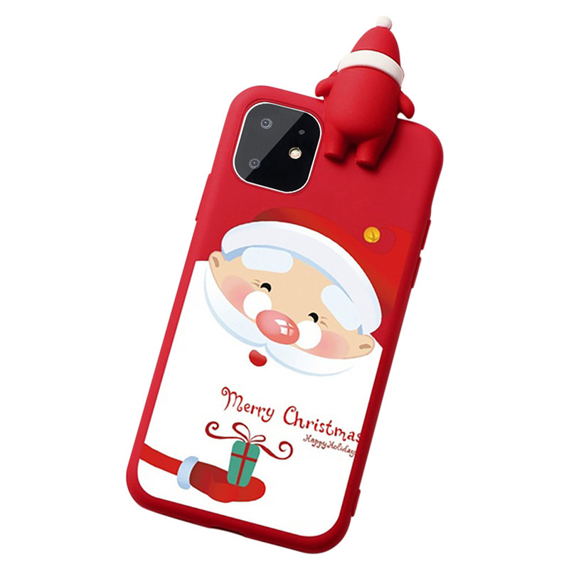 Christmas Cartoon Deer Phone Case For Iphone 11 11 Pro Pro Max Soft Tpu 3D Christmas Silicone Case For Iphone X XS XR XS MAX (US STOCK)