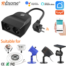 WIFI Smart Waterproof Socket IP44 Outdoor Smart Plug Outlets Works With Alexa Google Home App Remote Control
