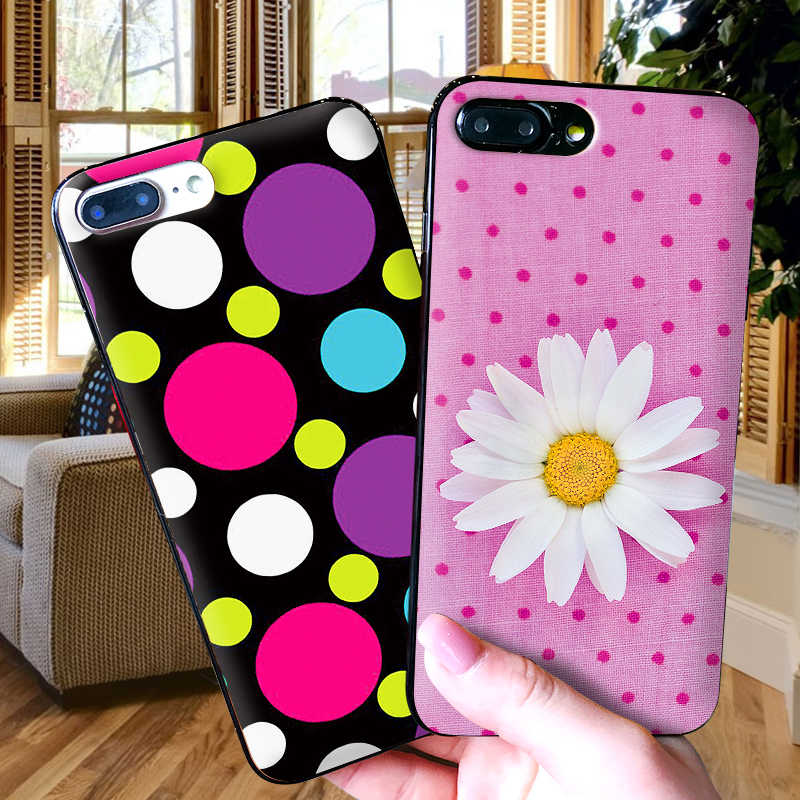 Polka Dots For iPhone X XR XS MAX Soft Silicone Back Cover For Apple iPhone 8 7 6S 6 S Plus Phone Case