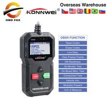 Konnwei kw590 obd2 varredor diagnóstico do carro multi línguas obd2 scanner de automóveis em russo melhor do que ad310 obd2 scanner