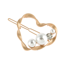 Fashion Hair Pins Cute Alloy Heart Geometric Imitation Pearl Clips For Women Jewelry Girl Gift Headwear Barrette