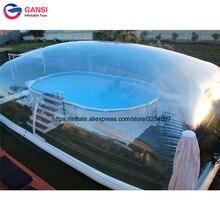 все цены на Inflatable Swimming Pool Cover / Rain Dust Proof pool cover inflatable lap pool transparent dome tent inflatable pool dome онлайн