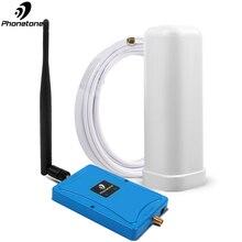 Dual Band Cellulaire Booster 4G Signaal Repeater 850/1800MHz 3G LTE DCS Gain 70dB Mobiele Telefoon versterker met Omni Antenne Volledige Kit