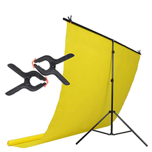 Photography PVC Backdrop Background Support Stand System Metal Backgrounds Support For Photo Studio With 2 Clamps 100*200CM