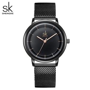 Image 1 - SKหนังนาฬิกาผู้หญิงแฟชั่นนาฬิกาควอตซ์นาฬิกาReloj Mujerนาฬิกาข้อมือสุภาพสตรีนาฬิกาSHENGKE Relogio Feminino