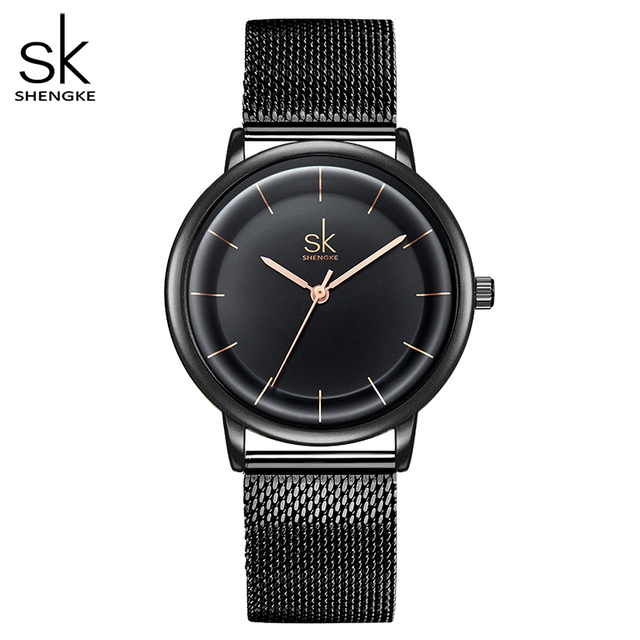 SKหนังนาฬิกาผู้หญิงแฟชั่นนาฬิกาควอตซ์นาฬิกาReloj Mujerนาฬิกาข้อมือสุภาพสตรีนาฬิกาSHENGKE Relogio Feminino