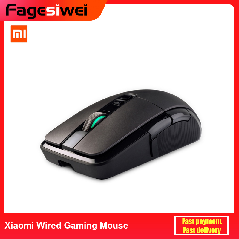 Xiaomi Wired Gaming Mouse <font><b>7200DPI</b></font> Game Optical Sensor 2.4G RGB Colorful Lights Ergonomic design Fast Aiming Mouse for PC Laptop image