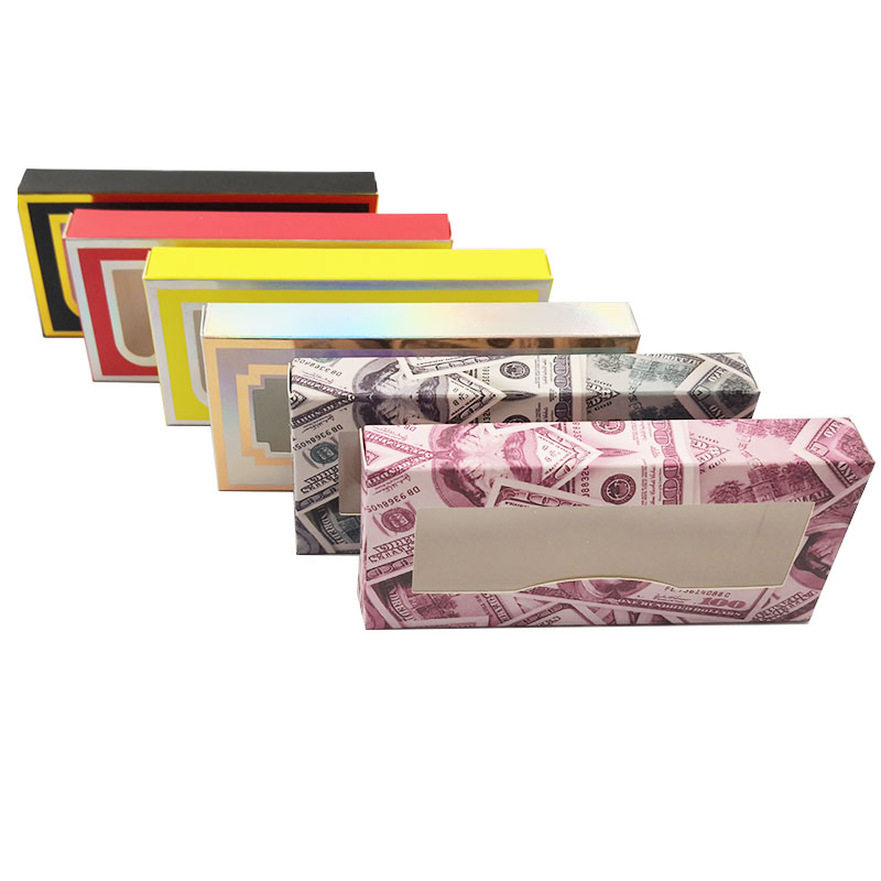 NEW 50pcs Empty Eyelashes Packaging Soft Paper Lash Box Marble Design for 25MM Strip Lashes 3D Mink Lashes(China)