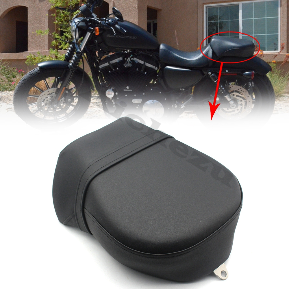 ACZ Motorcycle Black Rear Passenger <font><b>Seat</b></font> Pillion Cushion Pad <font><b>Seat</b></font> For Harley Sportster <font><b>Iron</b></font> XL <font><b>883</b></font> Nightster 1200 2007-2015 image