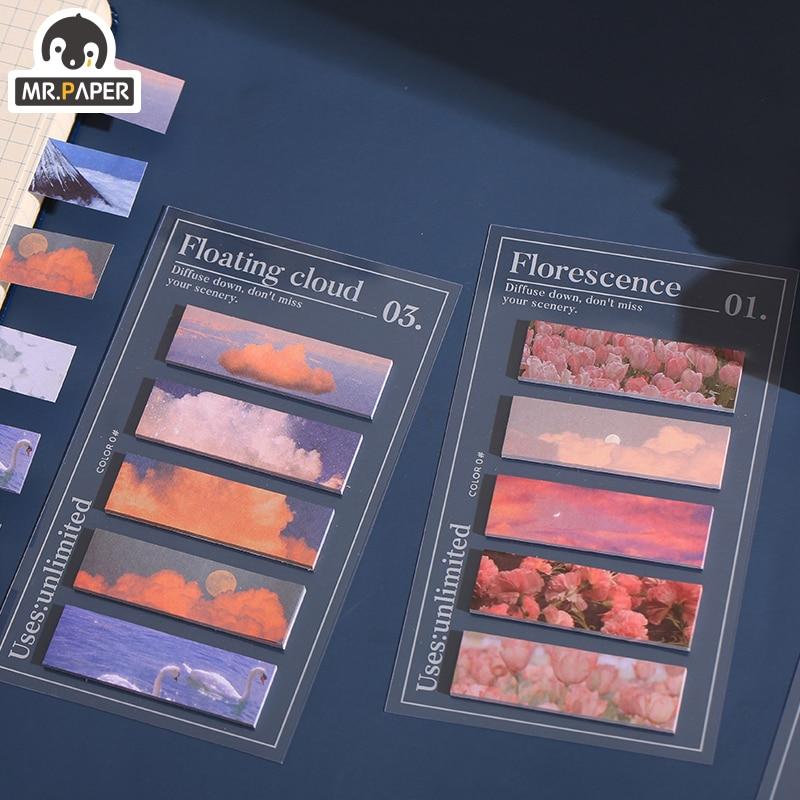 100buc / lot drăguț blocuri de memorie staționare ins stil flori - Blocnotesuri și registre - Fotografie 6