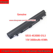 Batería genuina de US55 4S3000 S1L5 para Medion Akoya S6212T MD99270 MD 98456 MD98736 S6615T 40046929 15V 3000mAh
