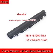 US55 4S3000 S1L5 אמיתי סוללה עבור Medion Akoya S6212T MD99270 MD 98456 MD98736 S6615T 40046929 15V 3000mAh