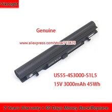 US55 4S3000 S1L5 แบตเตอรี่ของแท้สำหรับMedion Akoya S6212T MD99270 MD 98456 MD98736 S6615T 40046929 15V 3000mAh