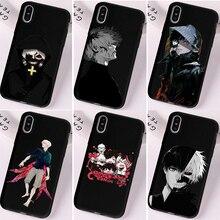 Tokyo Ghoul Trendy Anime Kaneki Ken Black Case For iPhone 11 12Pro Mini Max X XR 8 7 6s Plus Premium Beautiful Wonderful Cover